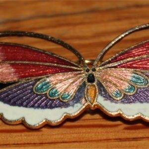 Jewelry - Cloisonne butterfly hair barrette